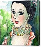Sm003 Young Pompadour Canvas Print