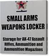 Small Arms Signage Russian Submarine Canvas Print