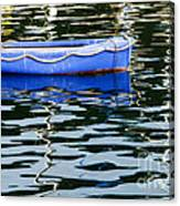 Small Blue Boat Canvas Print