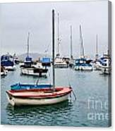 Small Boats At Lyme Regis Harbour Canvas Print
