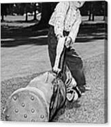 Small Boy Totes Heavy Golf Bag Canvas Print