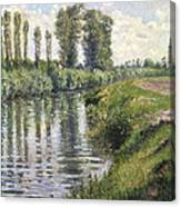 Small Branch Of The Seine At Argenteuil Canvas Print