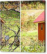 Small Cabin In Stereo Canvas Print