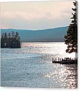 Small Dock On Lake George Canvas Print