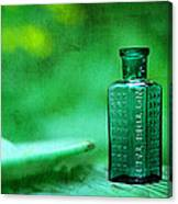 Small Green Poison Bottle Canvas Print