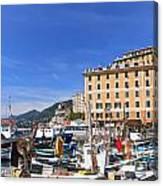 small harbor in Camogli. Italy Canvas Print