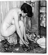 Small Nude Painting By Albert Worcester C. 1910 Canvas Print