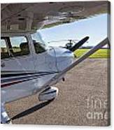 Small Plane In Private Airport Canvas Print