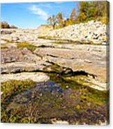 Small Pond Devonian Fossil Gorge Canvas Print