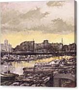 Small-port Santander Canvas Print