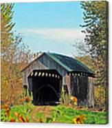 Small Private Country Bridge Canvas Print