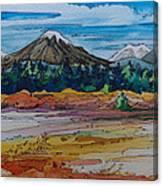 Small Sunriver Scene Canvas Print
