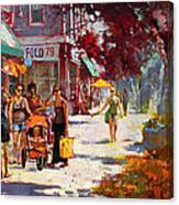 Small Talk In Elmwood Ave Canvas Print