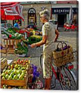 Small Town Market Canvas Print