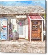Small Town Pit Stop  Canvas Print