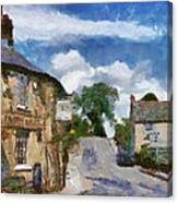 Small Town Street Canvas Print