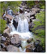 Small Waterfall Near Hwy 120 Roadside In Yosemite Np-ca- 2013 Canvas Print