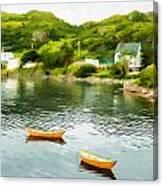 Small Yellow Boats Canvas Print