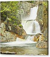 Smalls Falls In Western Maine Panorama Canvas Print