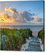 Smathers Beach Sunrise Canvas Print