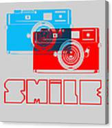 Smile Camera Poster Canvas Print