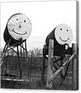 Smiley And Friend Canvas Print