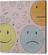 Smiley Face And Friends Canvas Print