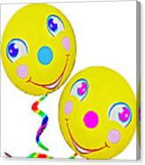 Smiley Face Balloons Canvas Print