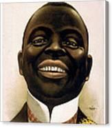 Smiling African American Circa 1900 Canvas Print