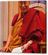 Smiling Dalai Lama Canvas Print