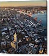 Smith Tower And West Seattle Canvas Print