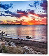 Smithville Lake Sunset Canvas Print