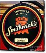Smithwick Sign Canvas Print