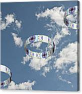 Smoke Rings In The Sky 2 Canvas Print