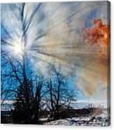 Smoke Thru The Trees Canvas Print