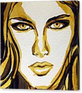 Smokey Eyes Woman Portrait Canvas Print