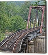Smokey Mountain Railroad Steel Girder Bridge Canvas Print
