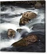 Smokey Mountain Stream In Autumn No.11 Canvas Print