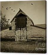 Smokey Prairie Barn  Canvas Print