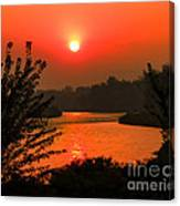 Smokey Sunrise Canvas Print