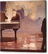 Smokin Piano Canvas Print
