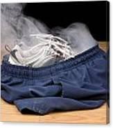 Smoking Shorts And Tennis Shoes Canvas Print