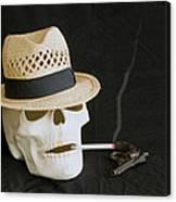 Smoking Skull  Canvas Print