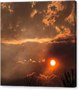 Smoky Clouds Over The Rogue Valley Canvas Print