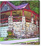 Old Log Cabin - Smoky Mountain Home Canvas Print