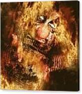 Smoky The Voodoo Clown Doll  Canvas Print