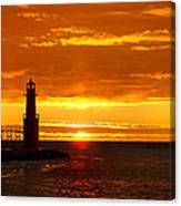Smoldering Sunrise Canvas Print
