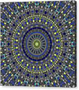 Smooth Squares Kaleidoscope Canvas Print