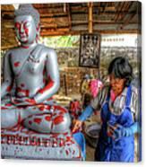 Smoothing Buddha Canvas Print