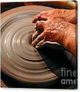 Smoothing Clay Canvas Print